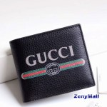 Gucci Print Leather Bi-fold Wallet