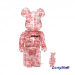 Medicom Toy Be@Rbrick Atmos x Coca-Cola 100% & 400% Clear Body
