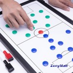 STRATEGY BOARD FOR FOOTBALL - FREE SIZE - BLACK/WHITE