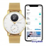 WITHINGS Steel HR Edition 36 Mm, Champagne Gold With Milanese Wristband